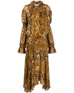 Платье Jocelyn со змеиным принтом Preen by thornton bregazzi