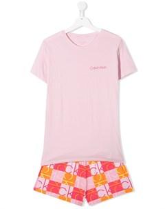 пижама с логотипом Calvin klein kids