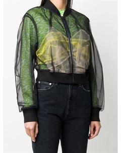 Прозрачная укороченная куртка бомбер Quetsche