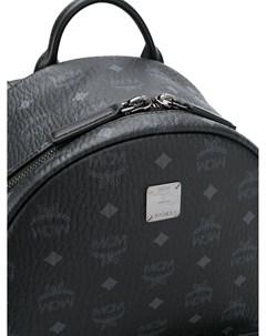 Рюкзак с заклепками и логотипом Mcm