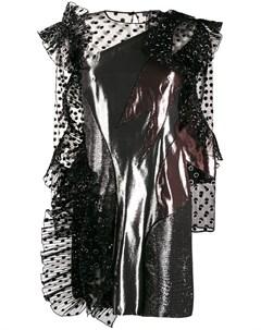 Платье в горох с эффектом металлик Alberta ferretti