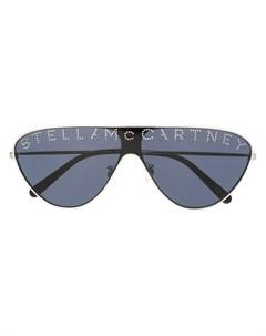 Солнцезащитные очки со стразами и логотипом Stella mccartney eyewear