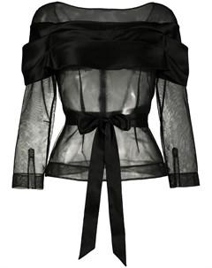 Полупрозрачная блузка с поясом Simone rocha