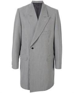 Пальто в ломаную клетку Doublet