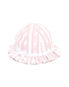 Шляпа в полоску с логотипом Emporio armani kids