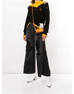 Широкие джинсы с завышенной талией Maison mihara yasuhiro