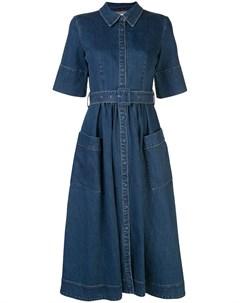Джинсовое платье с поясом Co