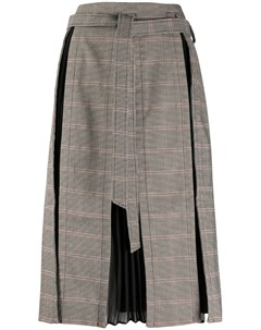 Клетчатая юбка со складками Rokh