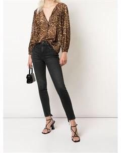 Полупрозрачная блузка с леопардовым принтом Nili lotan