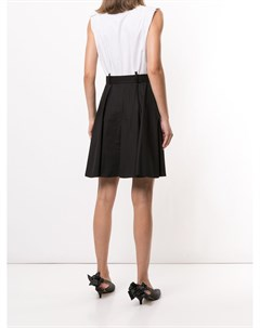 Платье рубашка миди с контрастной вставкой Paule ka