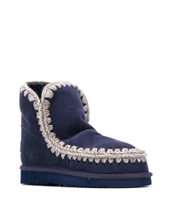 Ботинки Eskimo с декоративной строчкой в технике кроше Mou