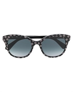 Солнцезащитные очки в круглой оправе с цветочным принтом Kate spade