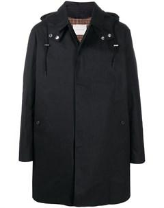 Однобортное пальто DUNOON HOOD Mackintosh