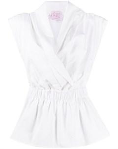 Рубашка с запахом и складками Stella jean