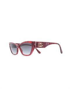 Широкие солнцезащитные очки в оправе кошачий глаз Dolce & gabbana eyewear