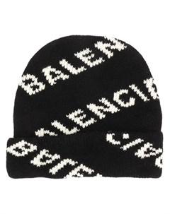 шапка бини с логотипом Balenciaga