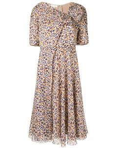 Платье в горох Delpozo