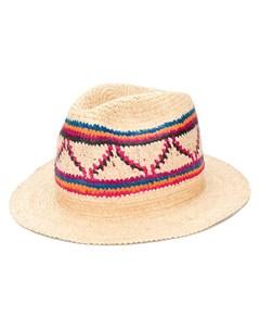 плетеная шляпа федора Super duper hats