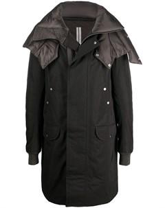 Утепленное пальто Rick owens