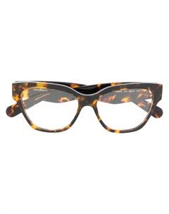 Очки в оправе кошачий глаз черепаховой расцветки Salvatore ferragamo eyewear