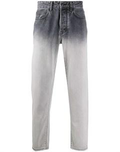 Прямые джинсы с эффектом омбре Marcelo burlon county of milan
