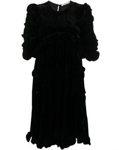 Бархатное платье с оборками Cecilie bahnsen