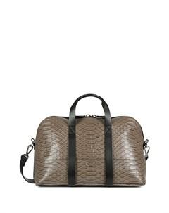 Дорожная сумка с тиснением под кожу змеи Giuseppe zanotti