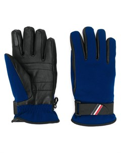 перчатки с кожаными вставками Moncler grenoble