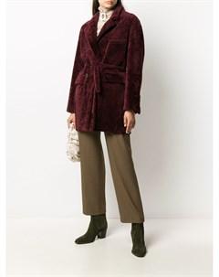 Однобортное пальто с поясом Simonetta ravizza