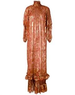 Жаккардовое платье с люрексом À la garçonne
