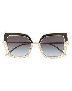 Солнцезащитные очки с узором и искусственным жемчугом Dolce & gabbana eyewear