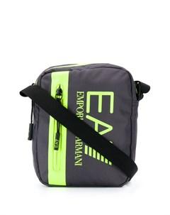 сумка мессенджер с логотипом Ea7 emporio armani