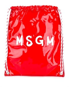 рюкзак с контрастным логотипом Msgm