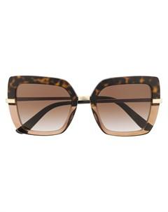 Солнцезащитные очки в квадратной оправе с принтом Dolce & gabbana eyewear