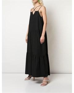 Ярусное платье макси Nomia