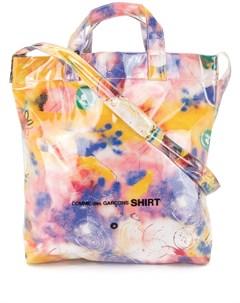 сумка тоут с принтом из коллаборации с Futura Comme des garçons shirt