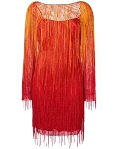 Платье с бахромой Alberta ferretti