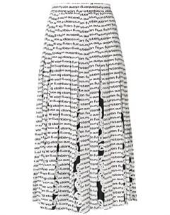 Плиссированная юбка с принтом Dvf diane von furstenberg