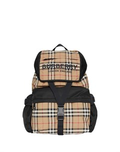 рюкзак в клетку с логотипом Burberry