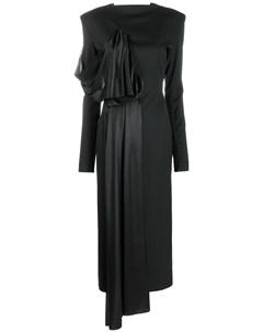 Платье с драпировкой Litkovskaya
