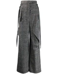 Клетчатые брюки с прорезями Litkovskaya