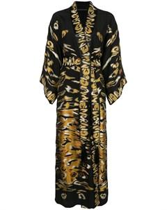 халат с вышивкой Josie natori couture