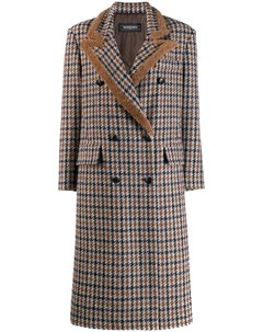 Клетчатое пальто средней длины Simonetta ravizza