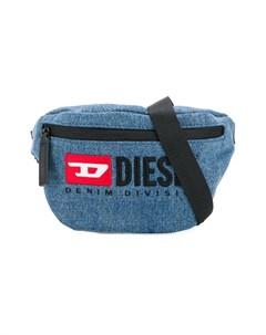Сумка на плечо на молнии с логотипом Diesel kids