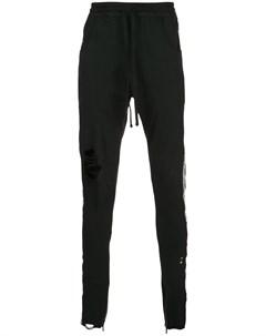 Спортивные брюки с эффектом потертости Alchemist