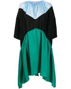 Расклешенное платье в стиле колор блок Christian wijnants