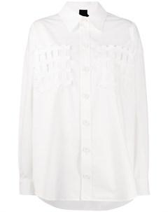 Рубашка свободного кроя с аппликацией Bernhard willhelm
