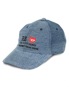 джинсовая кепка с вышивкой Diesel red tag