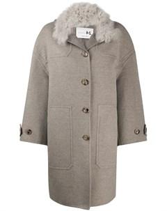 Пальто с контрастным воротником Manzoni 24