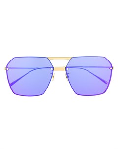Солнцезащитные очки в шестиугольной оправе Bottega veneta eyewear